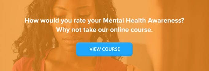 Mental Health Awareness Online Training Course Banner from High Speed Training