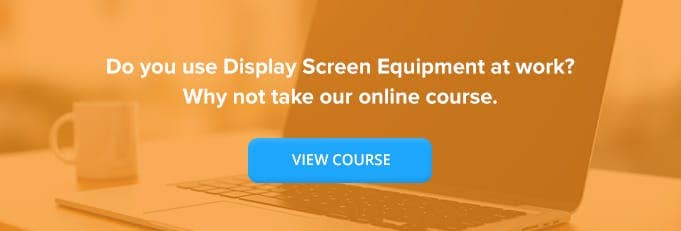 Display Screen Equipment (DSE) Online Training Course Banner from High Speed Training