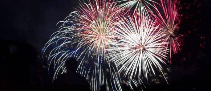 fireworks bonfire night display