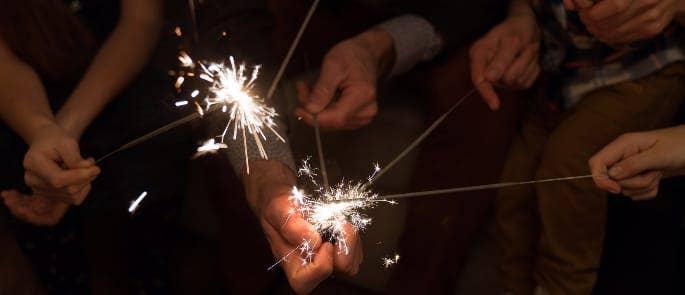 sparklers risk