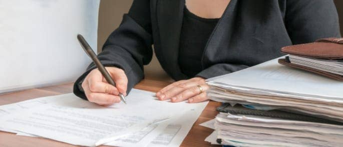 bookkeeping accountant writing