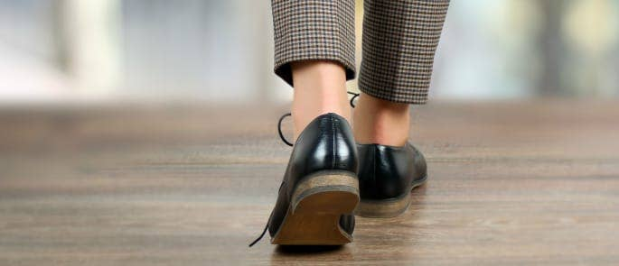 A woman wearing brogues attends a job interview