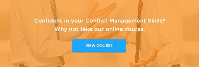 Conflict Management Online Training Course Banner from High Speed Training