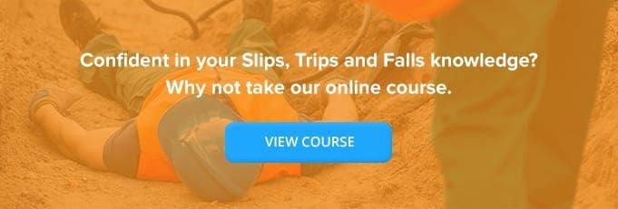 Slips, Trips and Falls Online Training Course Banner from High Speed Training