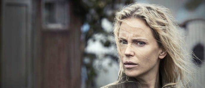 Picture shows autistic detective Saga (played by Sofia Helin).