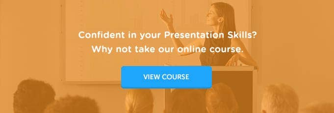Presentation Skills Online Training Course Banner from High Speed Training