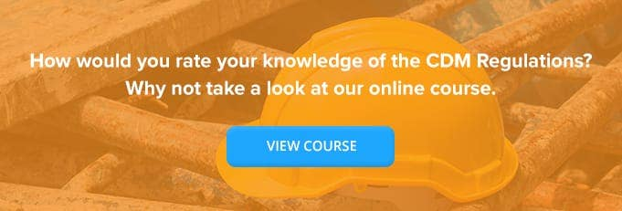 CDM Regulations Online Training Course Banner from High Speed Training