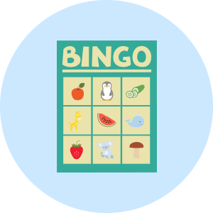 bingo card sticker