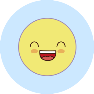 happy face emotion sticker