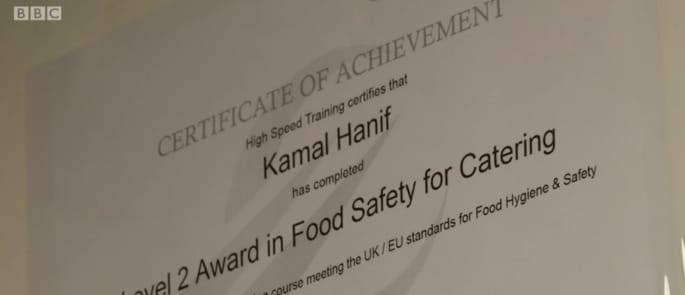 level 2 food hygiene certificate from High Speed Training features on BBC Great British Menu