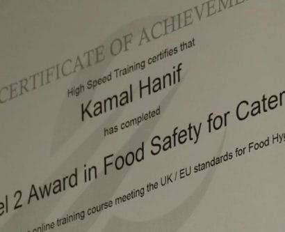 kamals-level-two-food-hygiene-certificate-from-high-speed-training
