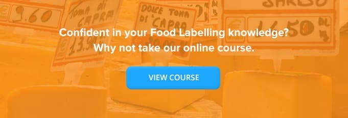 Food Labelling Online Training Course Banner from High Speed Training