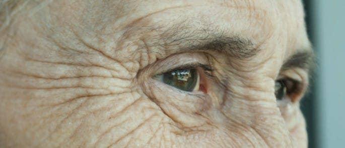 elderly woman looks concerned