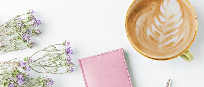 time management planning with coffee
