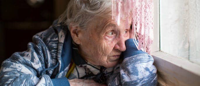 A woman with dementia induced paranoia