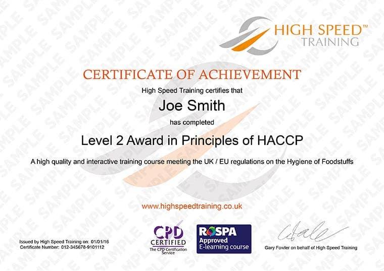 level 2 online haccp certificate