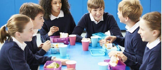 primary school food lunch