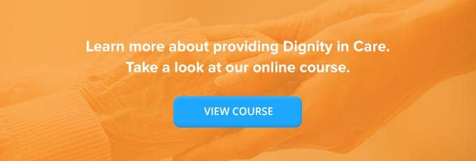 Dignity in Care Online Training Course Banner from High Speed Training