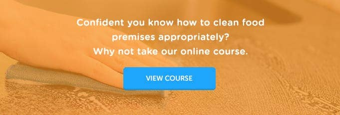 Level 2 Cleaning in Food Premises Online Training Course Banner from High Speed Training