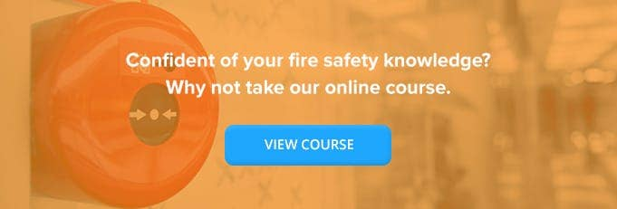 Fire Safety Online Training Course Banner from High Speed Training