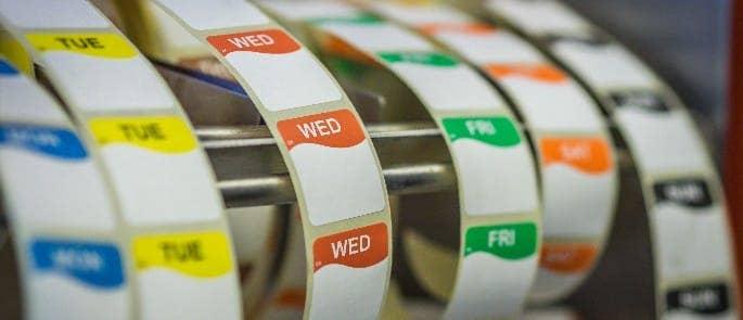 food labels by weekday