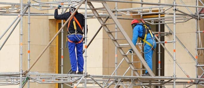 scaffolding height fall risk