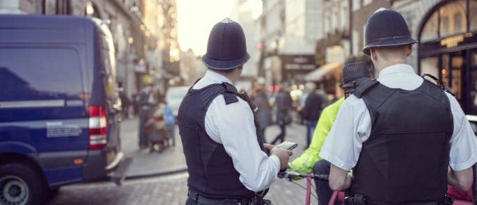 Policemen in central london