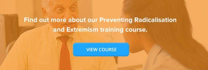 Preventing Radicalisation and Extremism Online Training Course Banner from High Speed Training