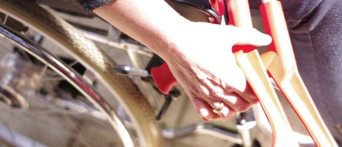 wheelchair and crutches injury