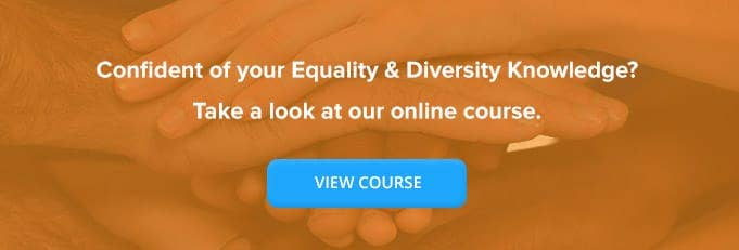 Banner for an Online Equality and Diversity Training Course from High Speed Training