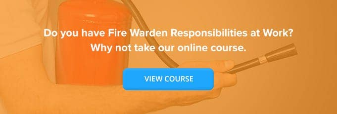 Banner for Fire Warden Online Training Course from High Speed Training