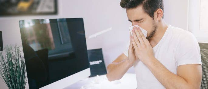 employee sick at work