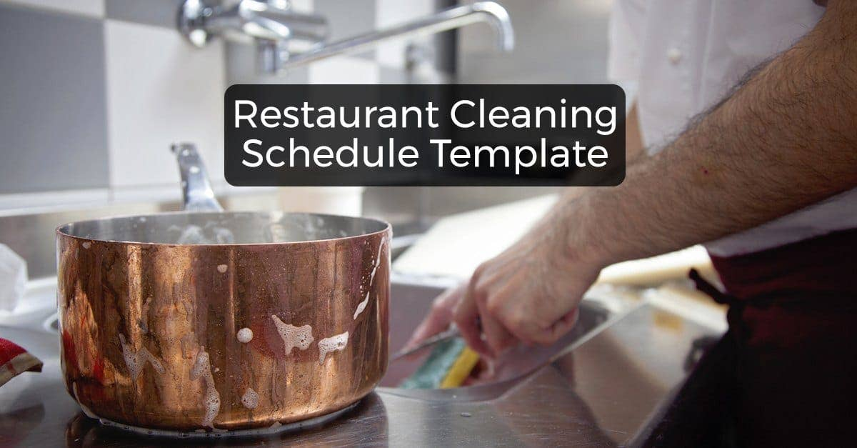 Restaurant Cleaning Schedule Free Downloadable Template