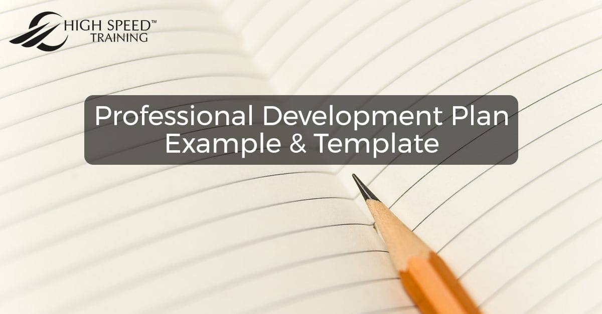 Free Professional Development Plan Example  Template