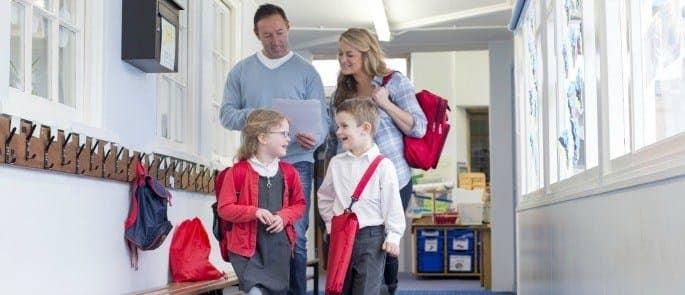 parents with children in school