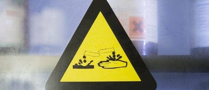 Corrosive Chemicals Hazard Symbol