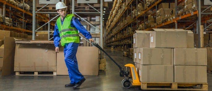manual handling in a warehouse
