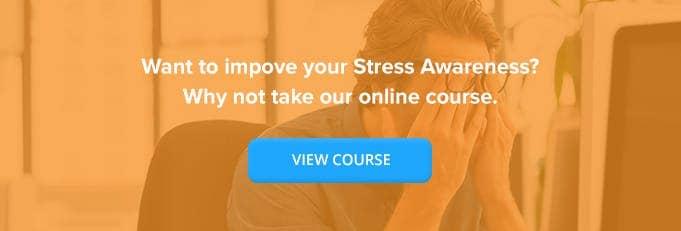 Online Stress Awareness Training From High Speed Training