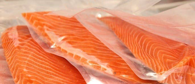 sealed packets of salmon