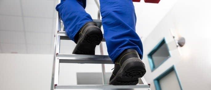 Person climbing a ladder