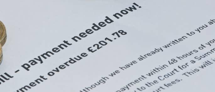 unpaid bill letter