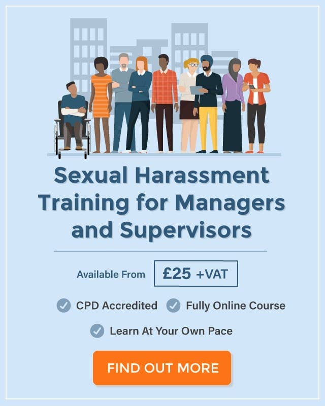 Online sexual harassment training for supervisors