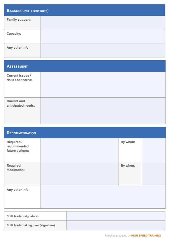 Patient Handover Template page 2