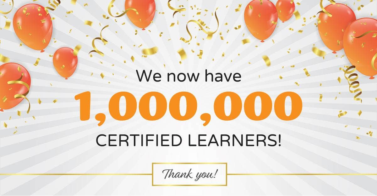 one million learners banner