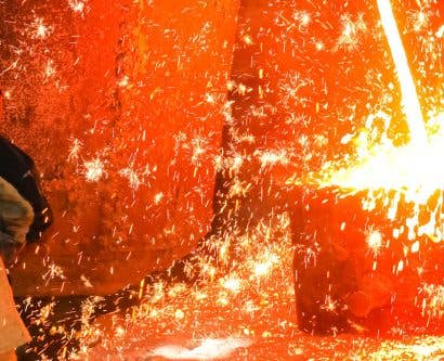 employee conducting hot work in ppe