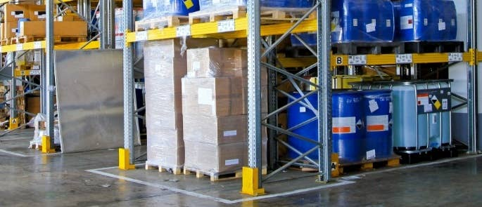 Flammable and combustible materials in a warehouse