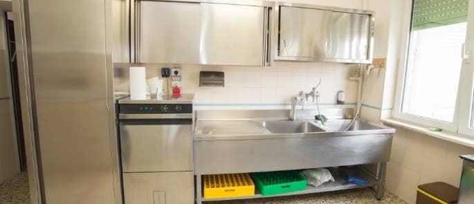 Commercial kitchen fridge