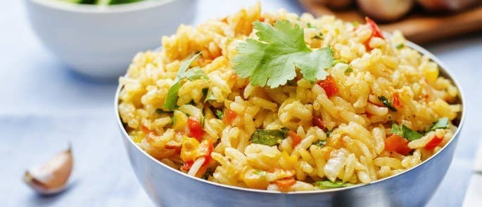 A bowl of vegetable rice