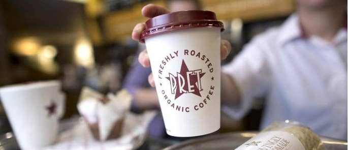 Photo of a coffee cup from Pret a Manger