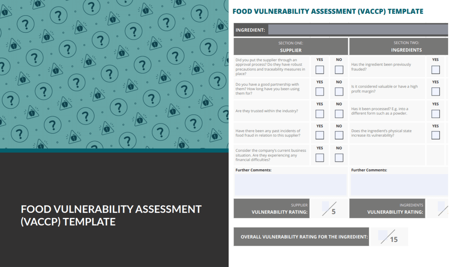 food vulnerability assessment checklist preview